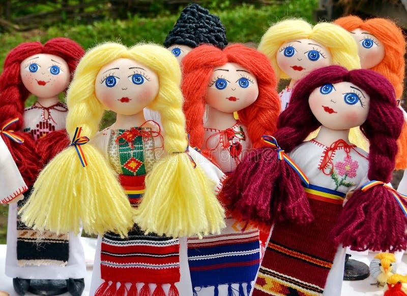 Rumänien dockor royaltyfri fotografi