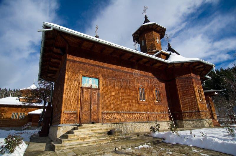 Rumänien - Einsiedlerei Agapia Veche lizenzfreie stockfotos