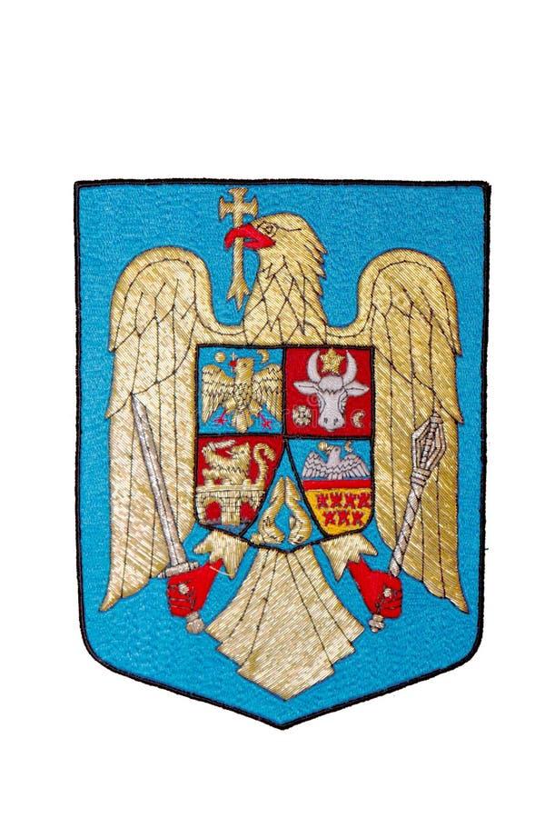Rumänien-Emblem getrennt auf Weiß vektor abbildung