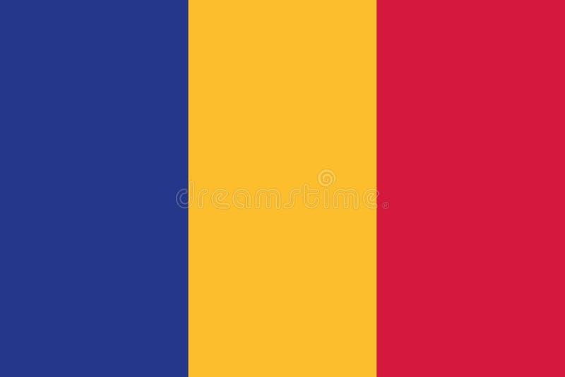 Rumänien flaggavektor stock illustrationer