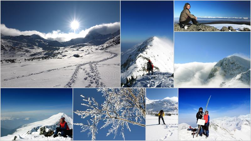 Rumänien, Gebirgscollage im Winter stockfoto