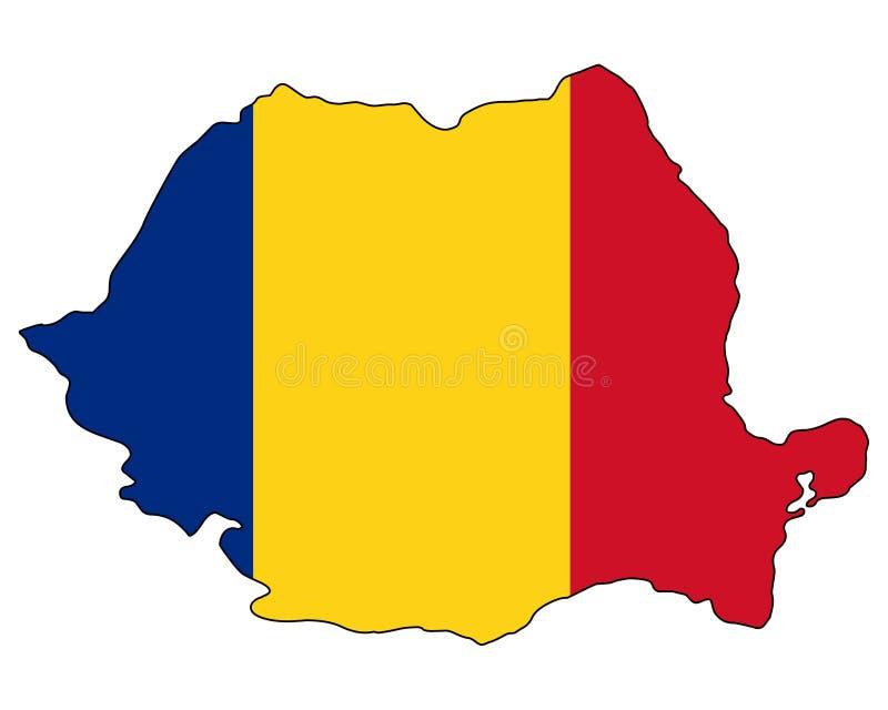 rumänien Karte der Rumänien-Vektorillustration stock abbildung