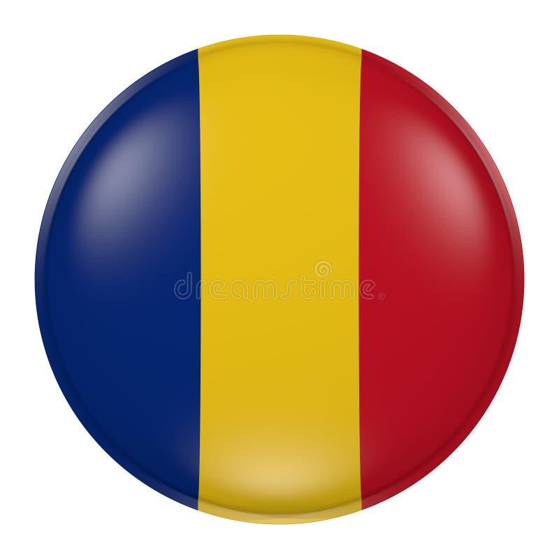 Rumänien knapp royaltyfri illustrationer