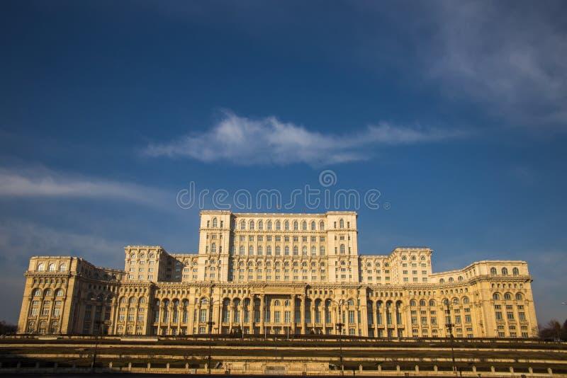 Rumänien parlament (casaen Poporului), Bucharest fotografering för bildbyråer
