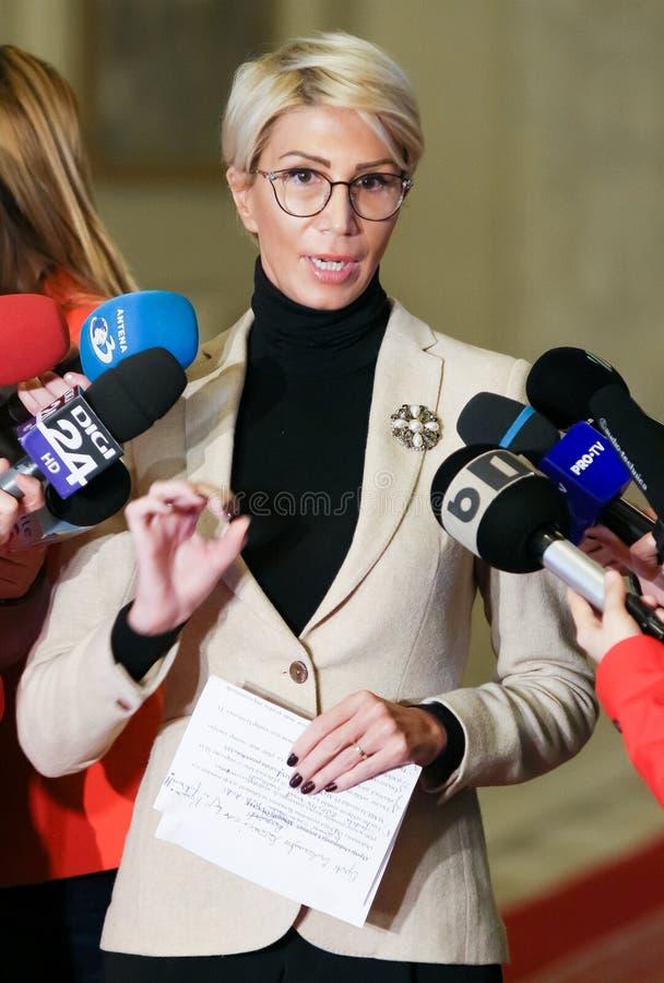 Rumänien-Politik - Raluca Turcan - Nationalliberale Partei stockfoto