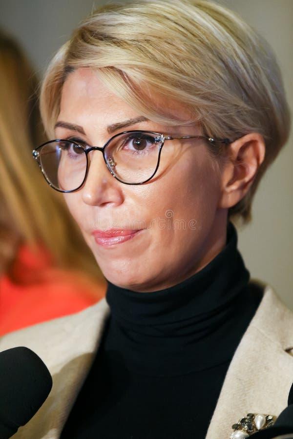Rumänien-Politik - Raluca Turcan - Nationalliberale Partei stockbild