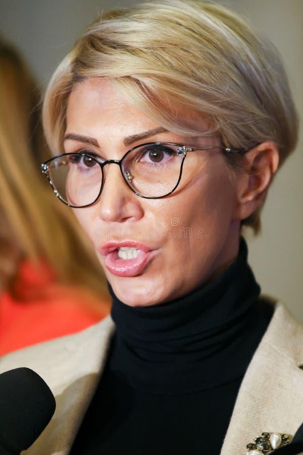Rumänien-Politik - Raluca Turcan - Nationalliberale Partei stockfotos