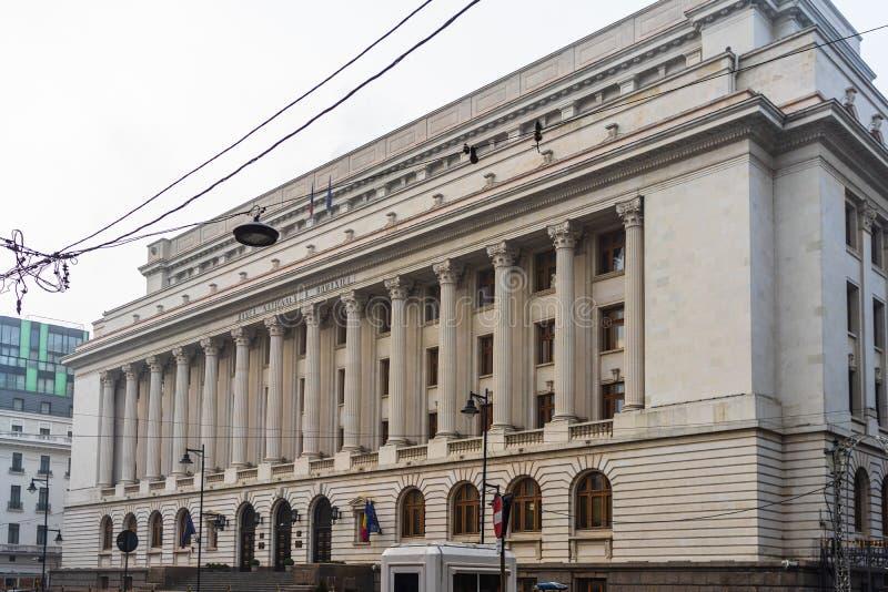 Rumäniens centralbank Banca Nationala a Romaniei BNR är den rumänska centralbanken BNR:s huvudkontor i Bukarest, Rumänien, royaltyfri fotografi