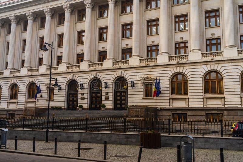 Rumäniens centralbank Banca Nationala a Romaniei BNR är den rumänska centralbanken BNR:s huvudkontor i Bukarest, Rumänien, arkivfoton