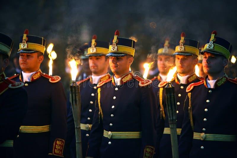 Rumänische Armee-Tagesfeiern lizenzfreie stockbilder