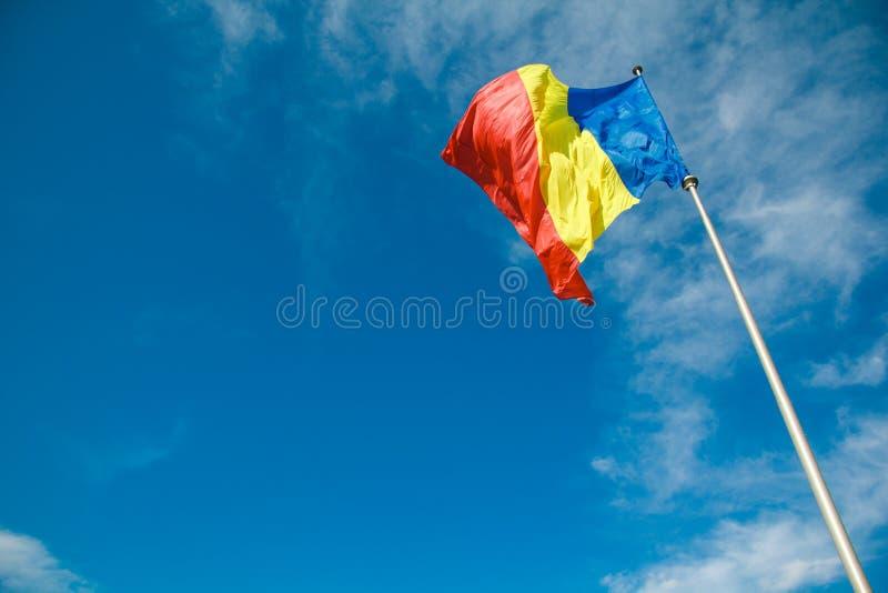 Rumänische Flagge 1 lizenzfreie stockbilder