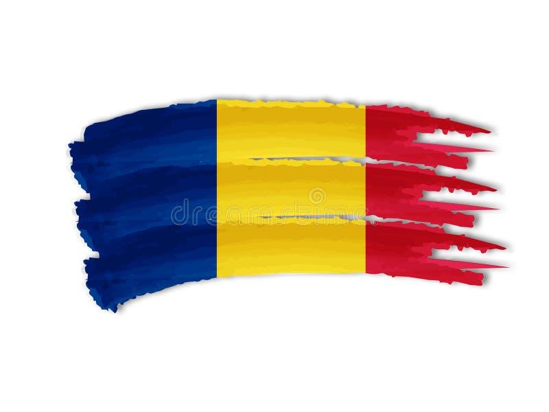 Rumänische Flaggenzeichnung lizenzfreie abbildung