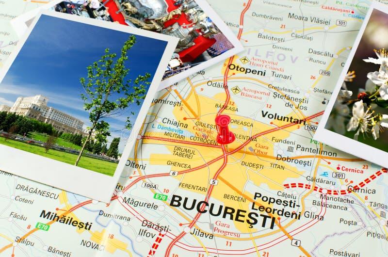 Rumänische Karte - Bucharest stockfotografie