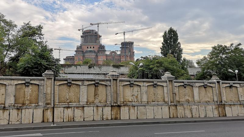 Rumänische Leute ` s im Bau Rettungs-Kathedrale lizenzfreies stockbild