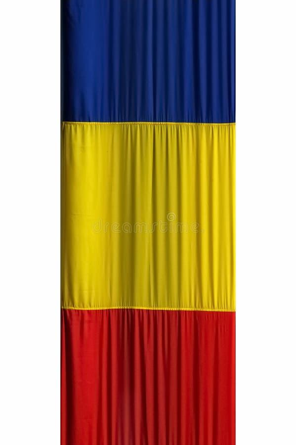 Rumänische Markierungsfahne lizenzfreie stockbilder