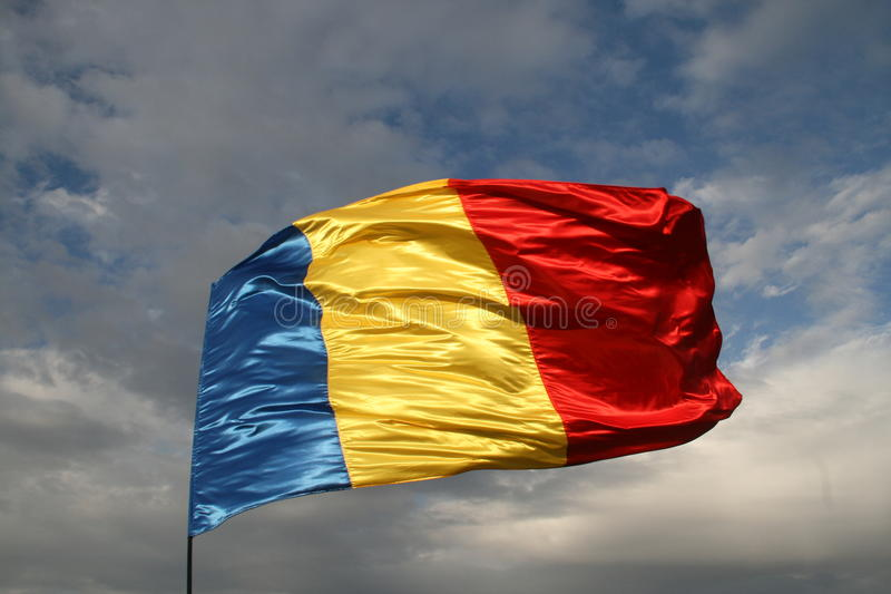 Rumänische Markierungsfahne stockbild