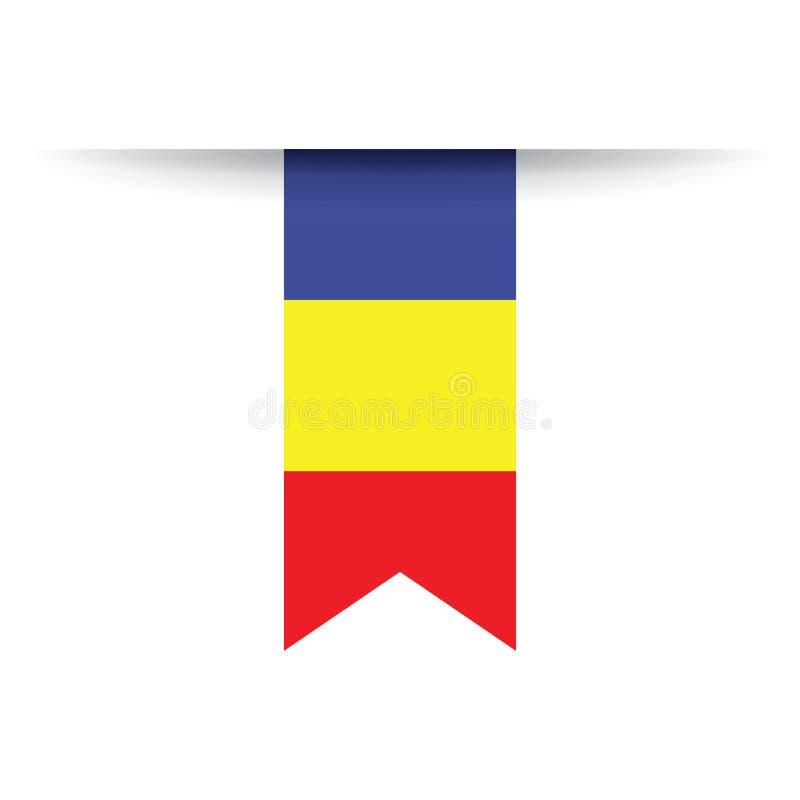 Rumänische Markierungsfahne stock abbildung