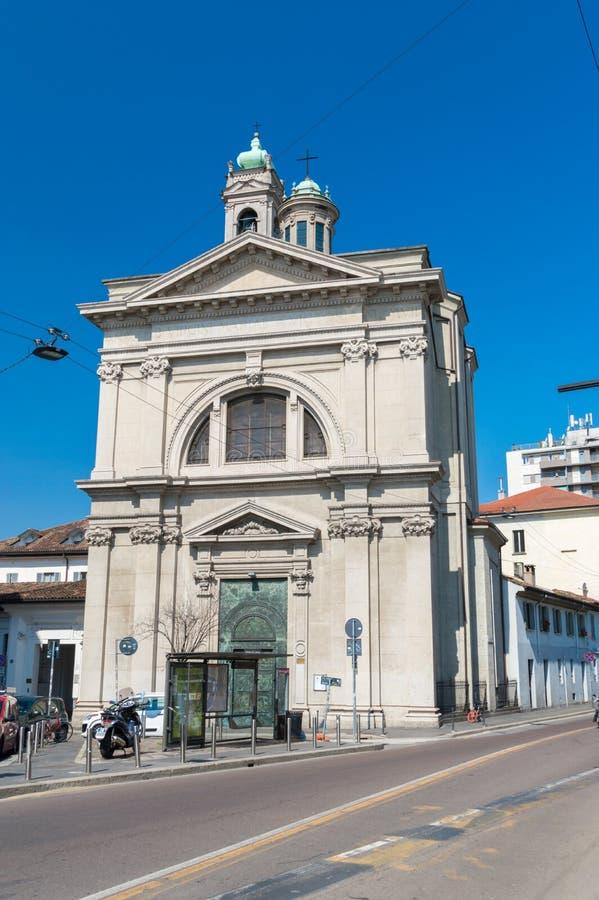 Rumänische orthodoxe Kirche in Mailand stockbild