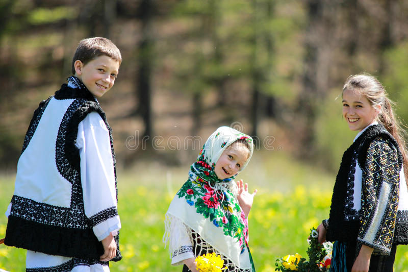 Rumänische Tradition stockbild