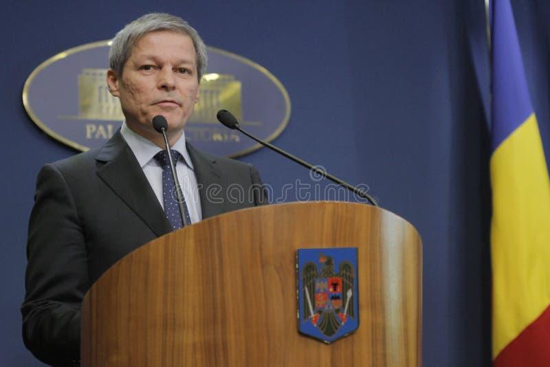 Rumänischer Premierminister Dacian Ciolos stockfotos