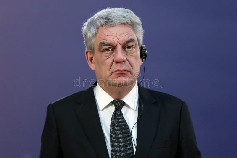 Rumänischer Premierminister Mihai Tudose stockfotos