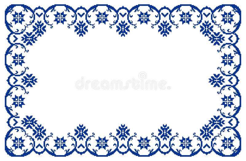 Rumänischer traditioneller Rahmen stock abbildung