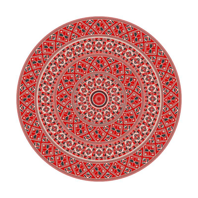 Rumänisches rundes Element vektor abbildung