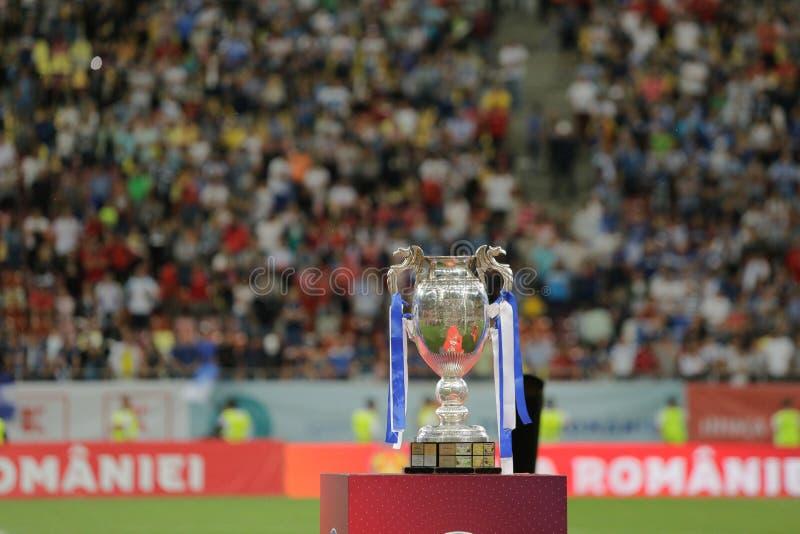 Rumänsk fotbollkopp royaltyfria foton