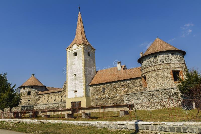 Rumänsk gammal slott arkivfoto