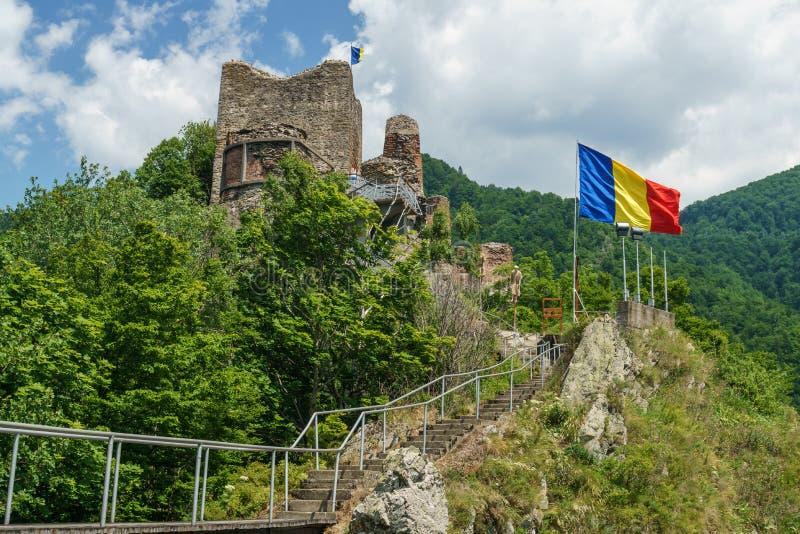 Rumänsk gammal slott arkivbild
