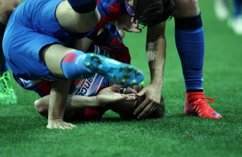 Rumänsk kopp 2015 för Steaua Bucharest seger arkivbilder