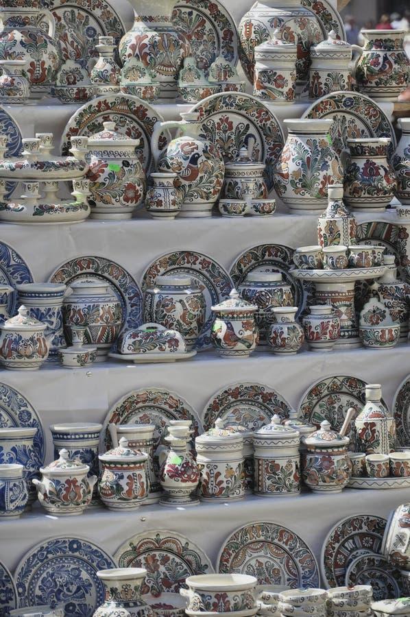 Rumänsk krukmakeri arkivbild