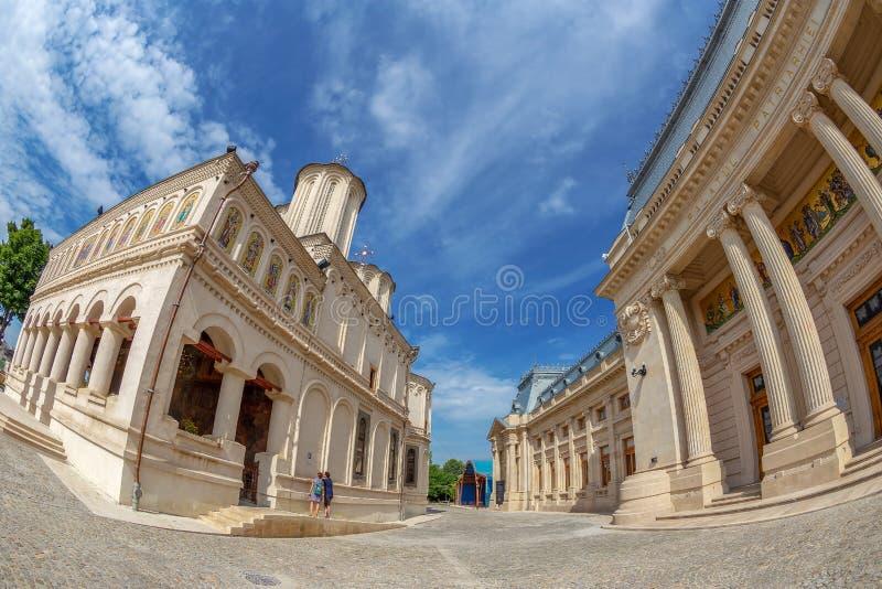 Rumänsk ortodox patriark- domkyrka, Bucharest, Rumänien arkivbilder