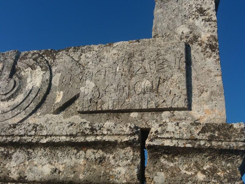Rumänsk typografi i Syrien royaltyfri foto