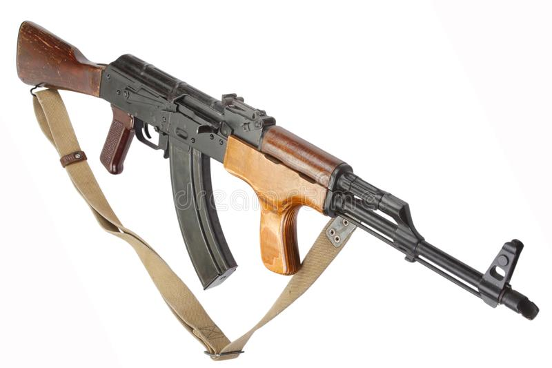 Rumänsk version för Kalashnikov AK 47 royaltyfri bild
