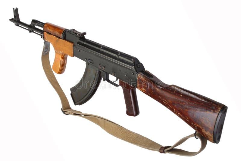 Rumänsk version för Kalashnikov AK 47 royaltyfria foton