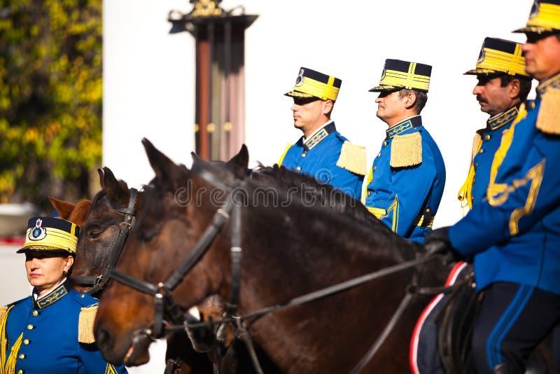 Rumänska kunglig personvakter royaltyfri bild
