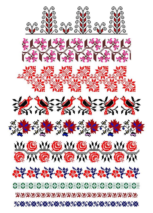 Rumänskt traditionellt tema stock illustrationer
