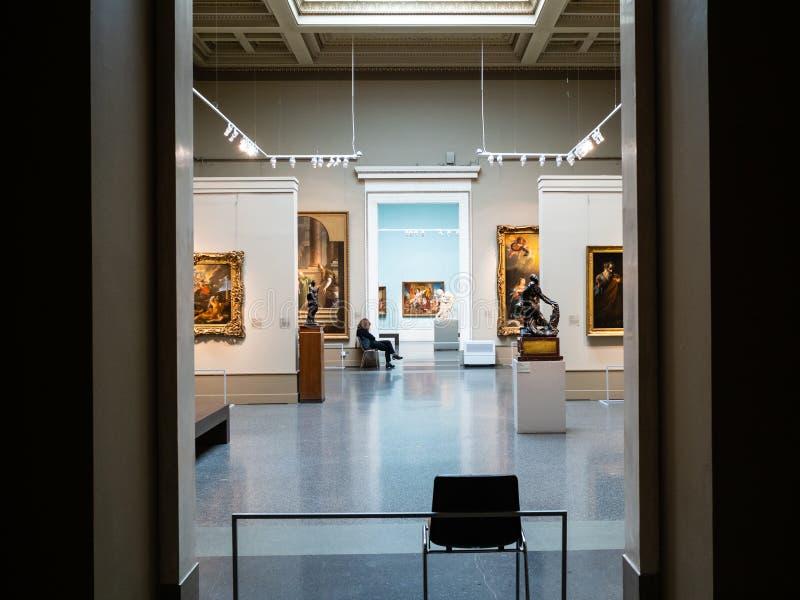 Rum av den huvudsakliga utställningen i Pushkin statmuseum arkivfoto