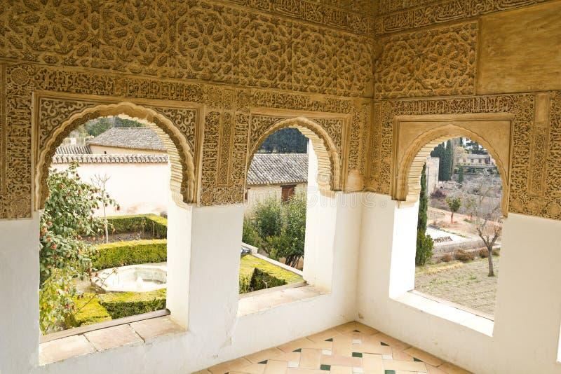 Rum av Generalife royaltyfri fotografi