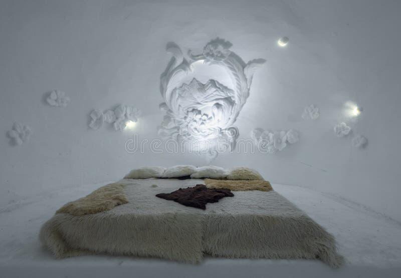 Rum av igloobyn på Zugspitze, Bayern, Tyskland arkivfoton