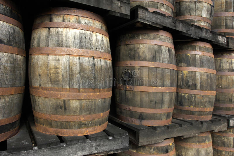 Rum baryłki fotografia stock