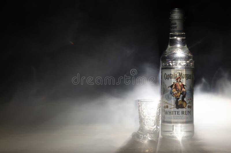 Rum bianco - capitano Morgan fotografie stock libere da diritti