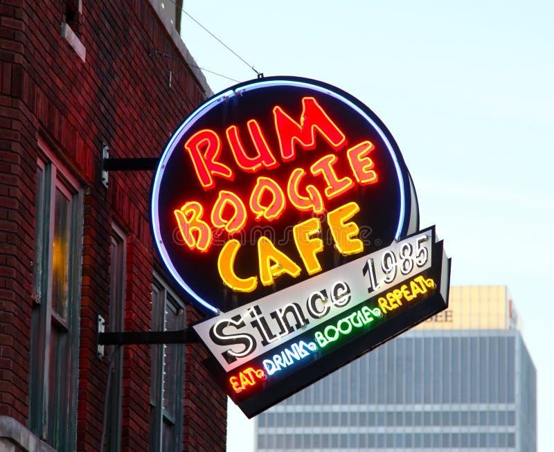 Rum Boogie Cafe Street Sign, Beale Street Memphis,