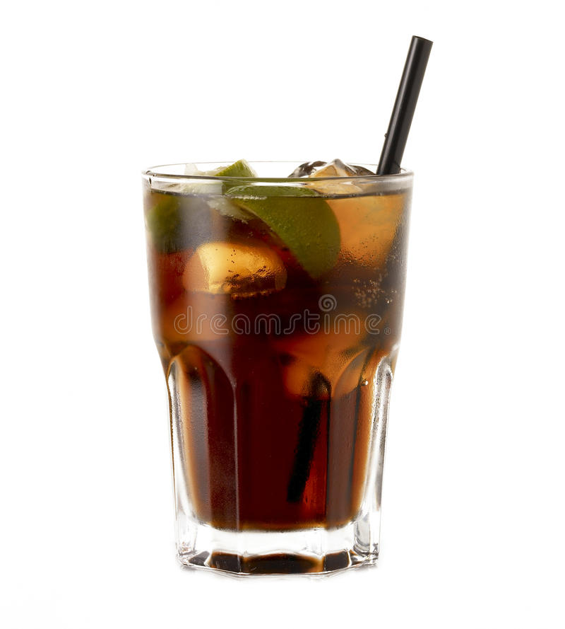 Rum Cocktail Cuba Libre Stock Photo. Image Of Cuba