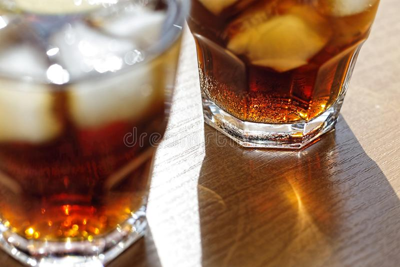 Rum, Cola, Cuba Libre, alcohol, ice, rum, glass, cocktail, refreshment, lime, cuba stock image
