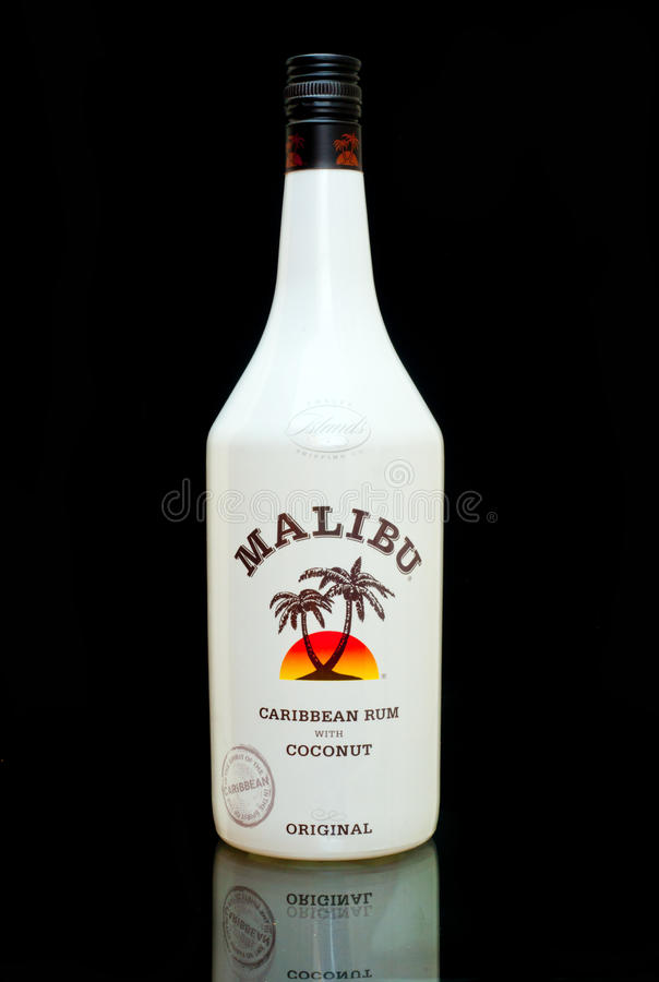 Rum de Malibu fotografia de stock
