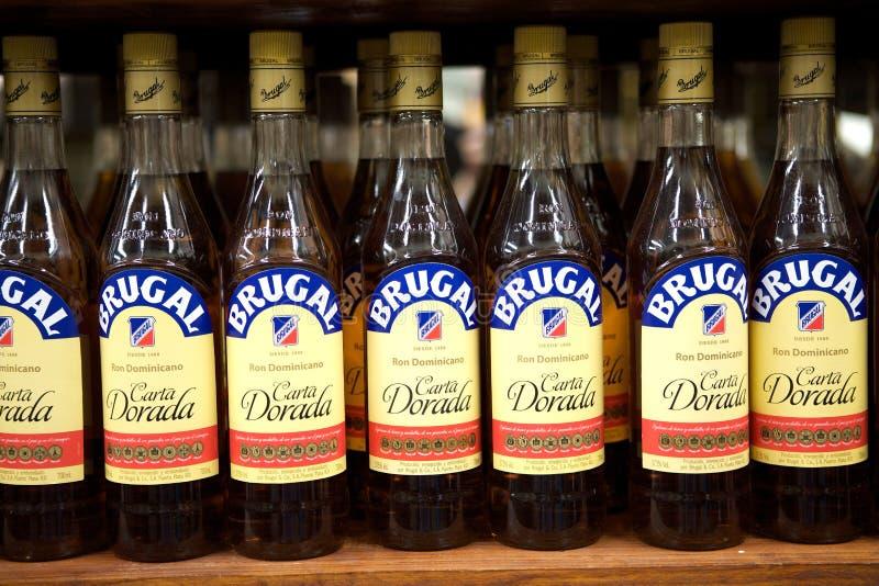 Rum del dominican di Brugal fotografie stock libere da diritti