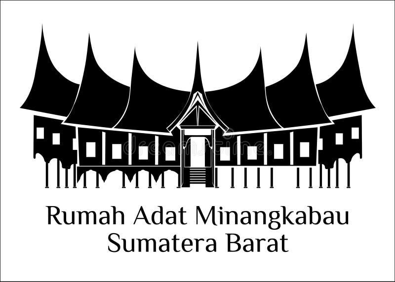 Rumah adat minangkabau苏门答腊barat 皇族释放例证
