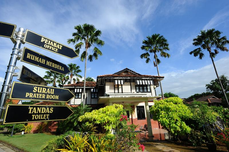 Rumah Merdeka. Is the house that belonged to the late Tunku Abdul Rahman, the first prime minister of Malaysia stock images